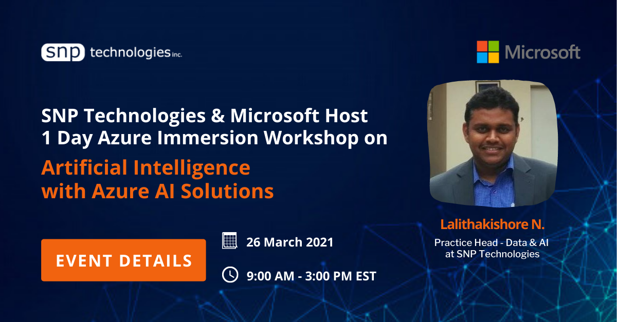 Azure Immersion Workshop on Artificial Intelligence with Azure AI Solutions