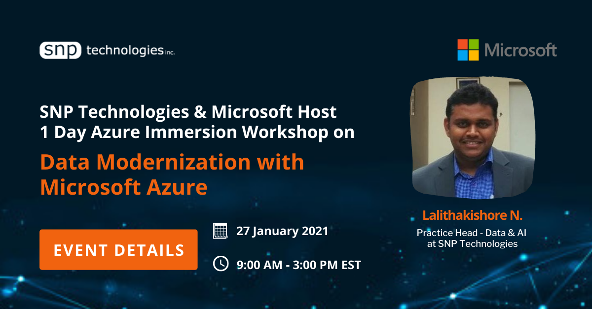 Azure Immersion Workshop on Data Modernization with Microsoft Azure