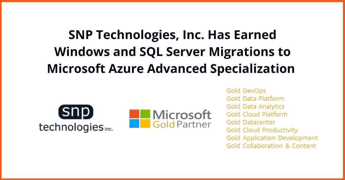 Windows Server and SQL Server Migration to Microsoft Azure Advanced Specialization